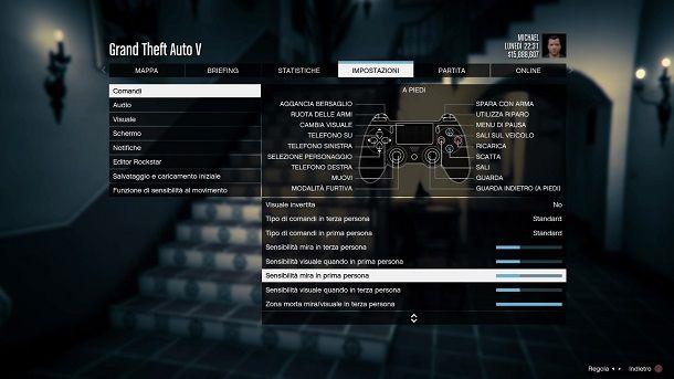 Comandi prima persona GTA 5