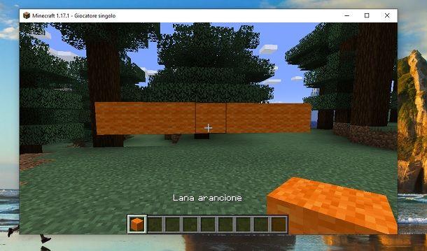 Fila lana arancione Minecraft
