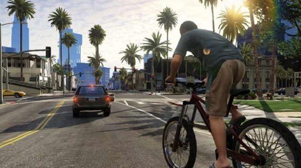 GTA 5 visuale Bicicletta