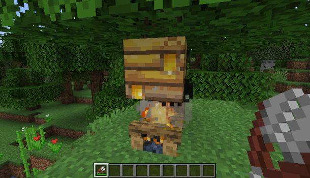 Raccogliere favo Minecraft