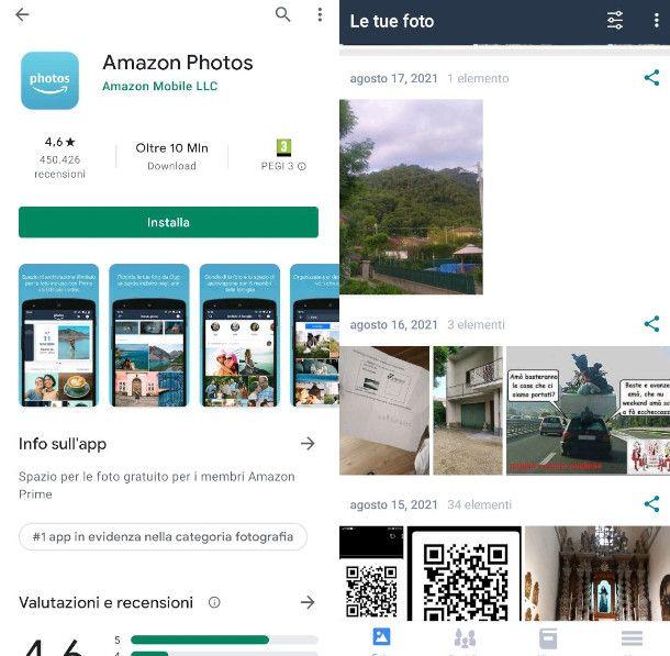 App di Amazon Photos