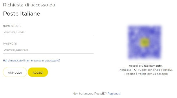 Accedere a PosteID
