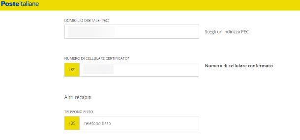 Come cambiare numero di telefono su SPID: Poste