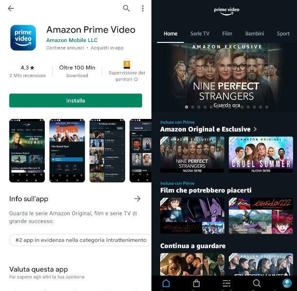 App di Amazon Prime Video