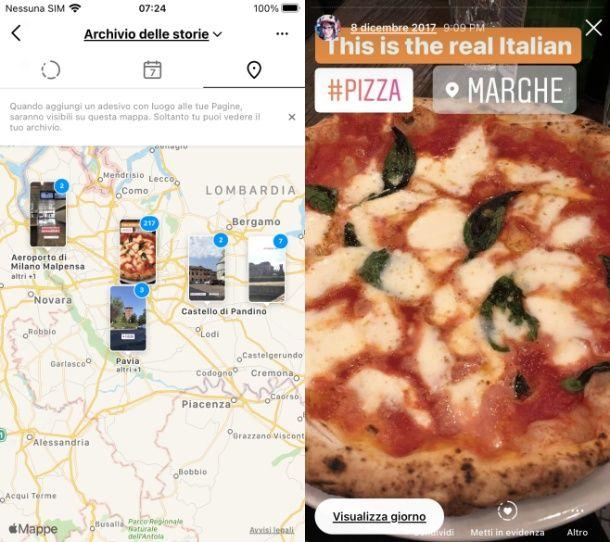 Come vedere le tue storie di un luogo su Instagram