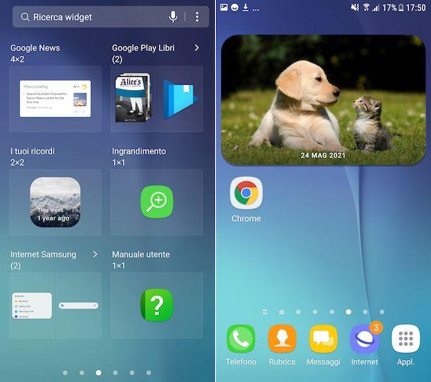 Widget Google Foto Android