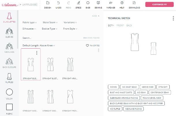 Siti per disegnare vestiti gratis