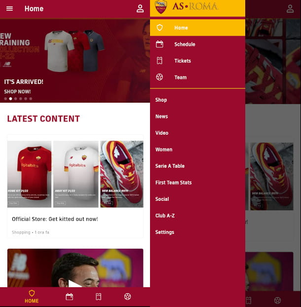 app ufficiale as roma