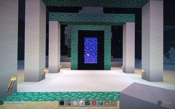 costruire un tempio attorno al portale del nether