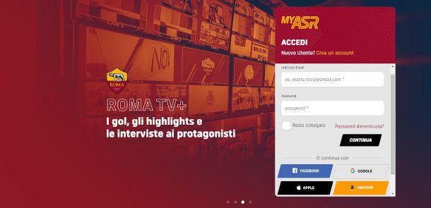 registrazione roma TV+