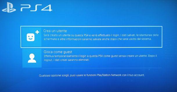 come entrare con un altro account su PS4