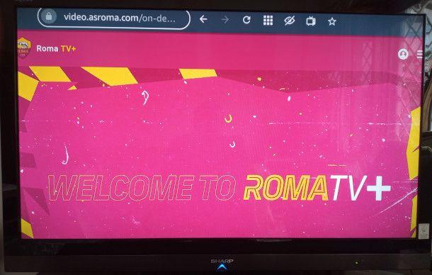 as roma TV+ su televisore