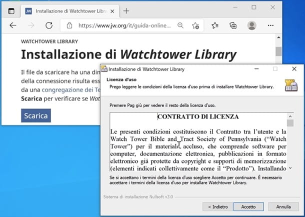 Installazione di Watchtower Library