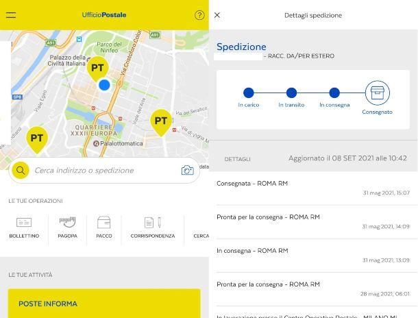 Come vedere raccomandata Poste Italiane da app