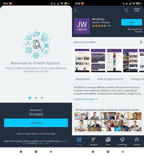 Come scaricare JW Library su Android dall'Amazon App Store