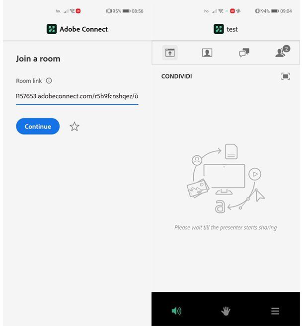 Come partecipare stanza Adobe Connect