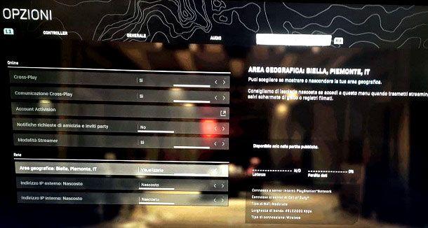 Come cambiare server su Warzone PS4