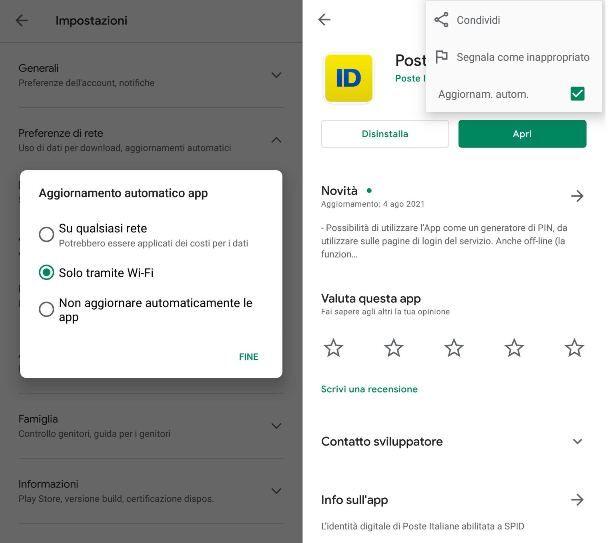 Aggiornamenti automatici Android