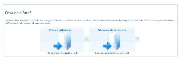 Come si registra un contratto di affitto on line con RLI