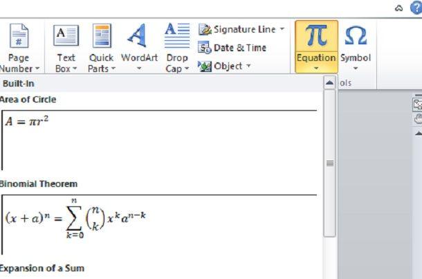 Come inserire formule matematiche in Word usando LaTeX