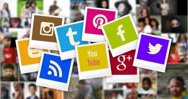 Tante icone dei social network