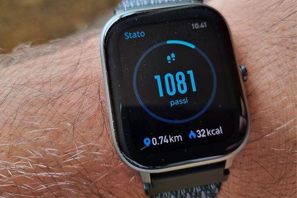 Come attivare il contapassi su smartwatch Amazfit