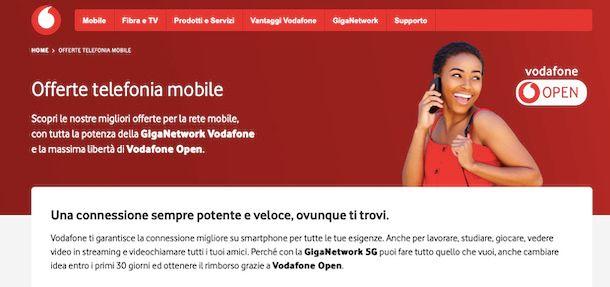 Vodafone offerte mobile sito