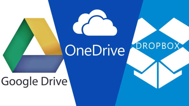 Google Drive, OneDrive e Dropbox