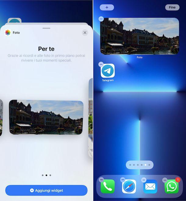 Widget Foto iOS