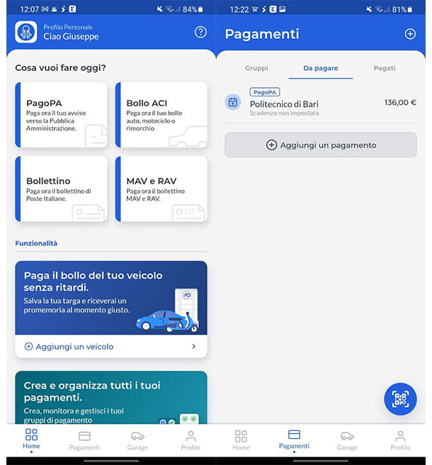 scaricare ricevuta pagoPA tramite EasyPol
