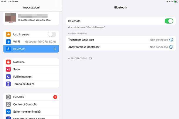 Come collegare il mouse Bluetooth all'iPad