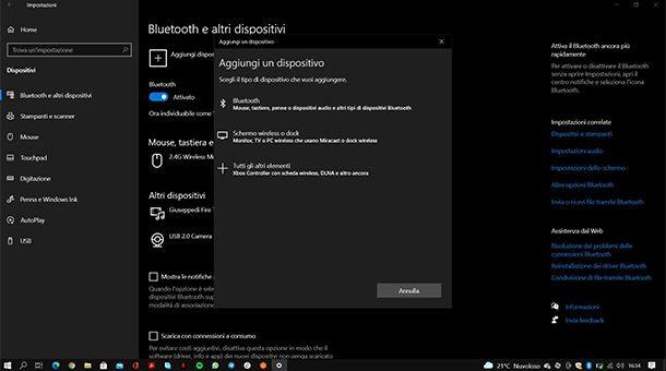 Come collegare il mouse Bluetooth al tablet Windows
