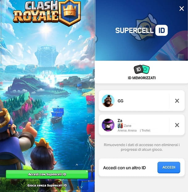Come avere 2 account su Clash Royale Android