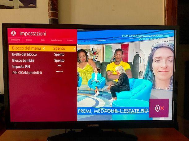 Controllo genitori TV Telefunken