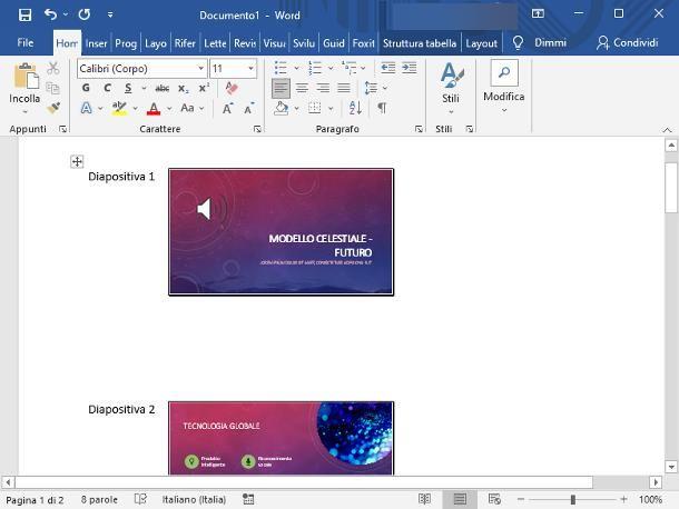 Come trasformare un PowerPoint in Word