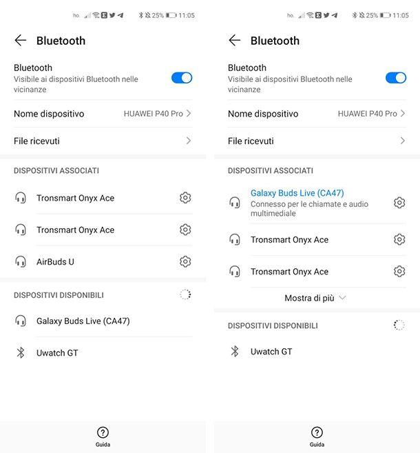 Come attivare auricolare Bluetooth Samsung su Android