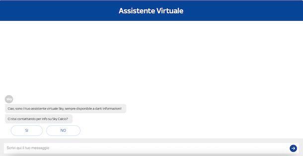 Assistente Virtuale Sky