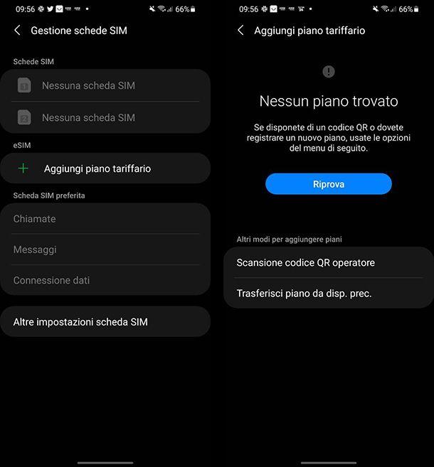 Come inserire la eSIM su Android