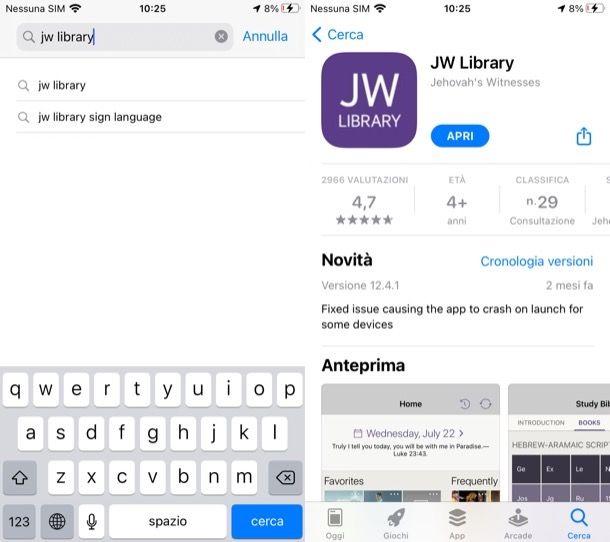 Come scaricare JW Library su iPhone e iPad