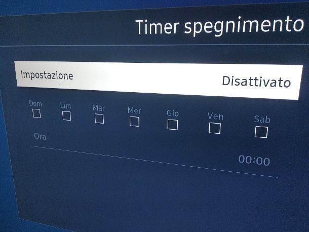 Come togliere timer il timer alla TV Samsung