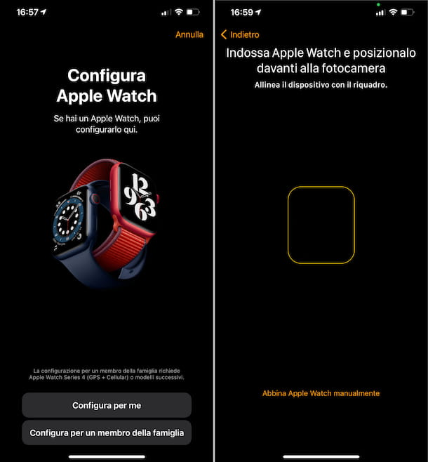 Configura Apple Watch