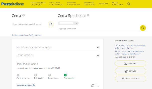 Come vedere raccomandata Poste Italiane da PC