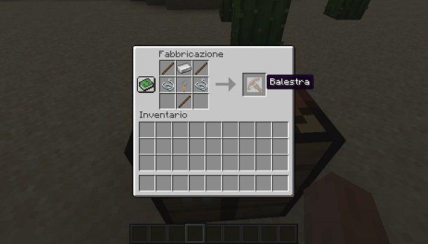 Creare una balestra su Minecraft
