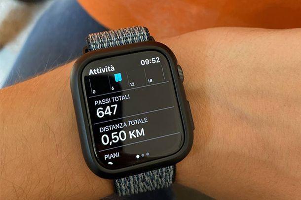 Come attivare il contapassi su Apple Watch