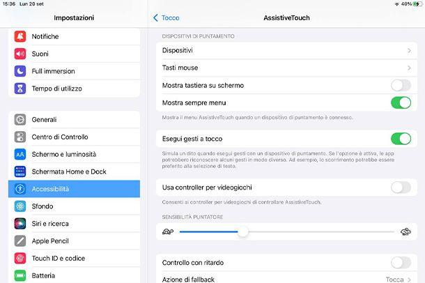 Come collegare il mouse wireless all'iPad