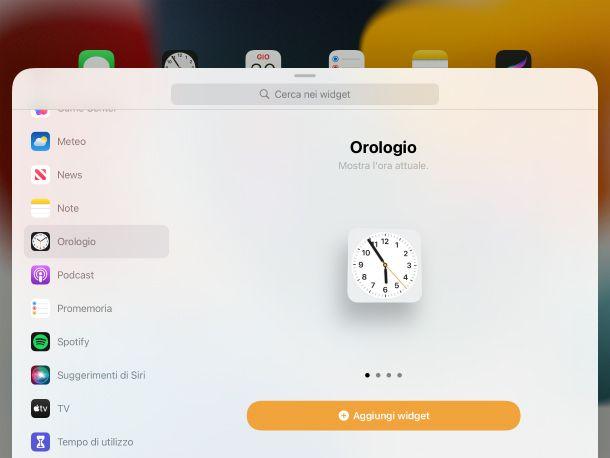 Widget Orologio iPad