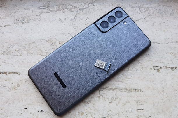 Come inserire SIM su Samsung