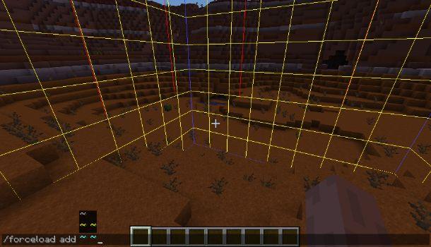 Ricaricare chunk Minecraft