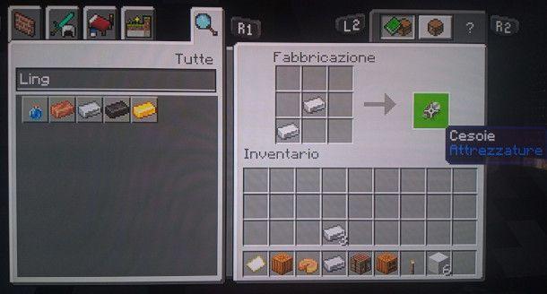 come costruire delle cesoie Minecraft