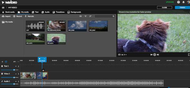 Wevideo interfaccia
